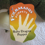 Baby Dragon Hand Puppet by Folkmanis, Ages 3+
