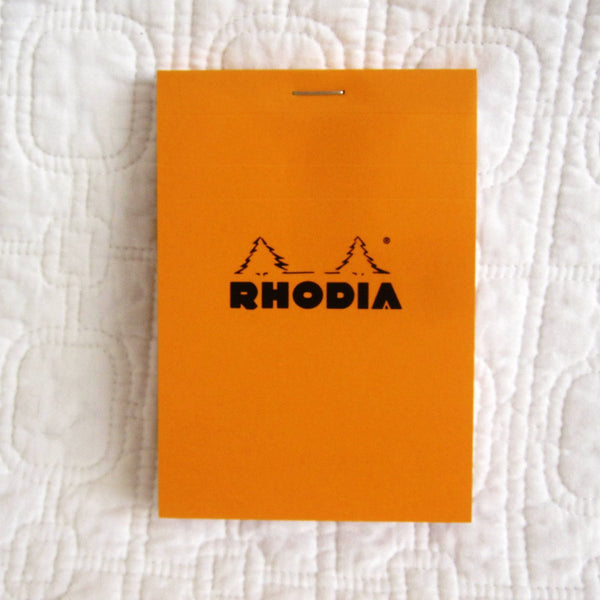Rhodia Classic Small Orange Notepad Staplebound, Graph Paper