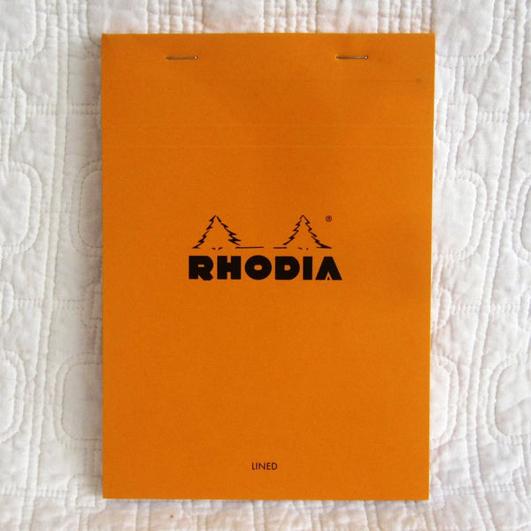 Rhodia Classic Medium Orange Notepad, Staplebound, Lined Paper