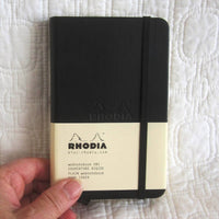 Rhodia Hardcover Small Journal, Blank Pages, Pocket and Elastic Band