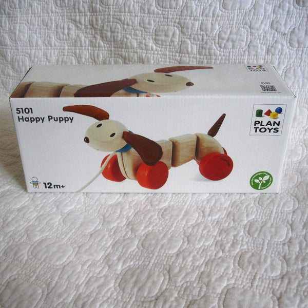 Happy Puppy Pull Along Puppy by Plan Toys, Ages 12 mo.+