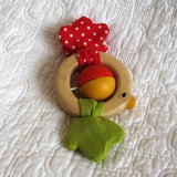 Birdie Rattle by Plan Toys, Ages 4 mo.+, Sustainably Made, Wood Teether