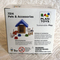 Mini Pets and Accessories Set by Plan Toys, Ages 3+, Sustainable Wood, Adorable!