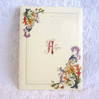 "Luxury Italian Stationery Portfolio, 10 Sheets 10 Envelopes, ""Allegro"" Pattern"