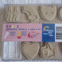 Emoji Rubber Stamp Kit by Yellow Owl Workshop, Crafty Fun, Ages 6 - Adult