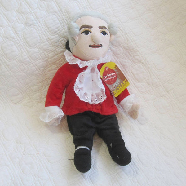 Mozart Fun Plush Doll with Music Box by Unemployed Philosophers, Ages 7 - adult