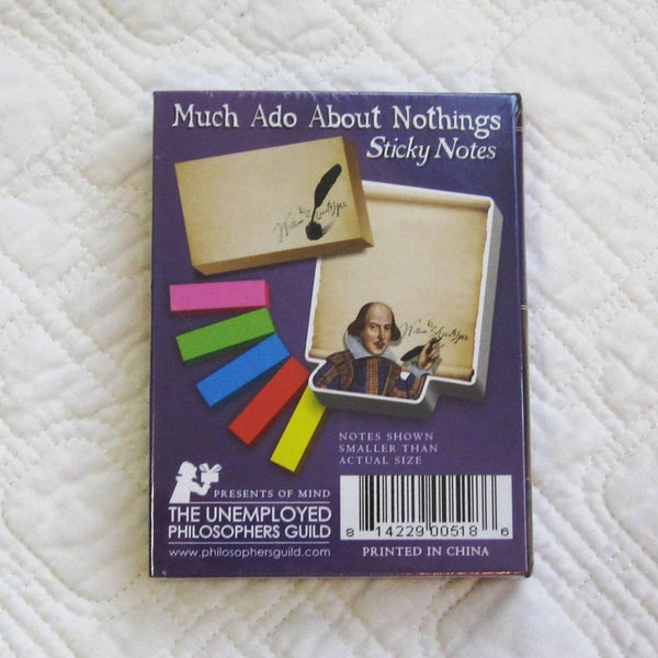 """Much Ado About Nothings"" Shakesperian Sticky Notes for School or Work"