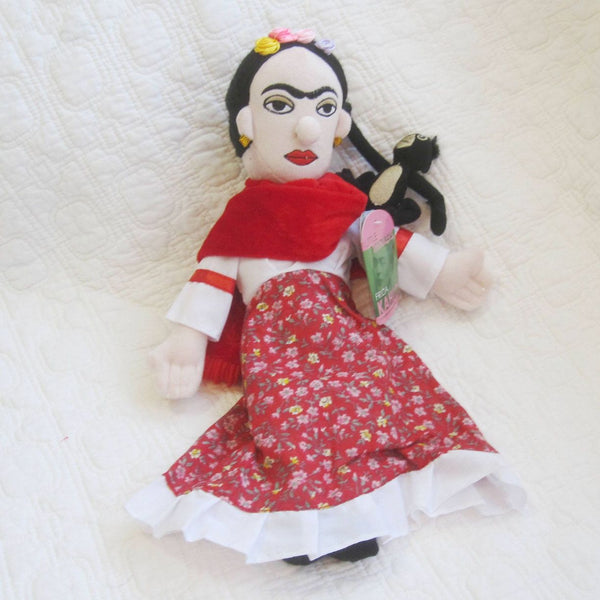 Frida Kahlo Fun Plush Doll by Unemployed Philosophers, Ages 7 to Adult