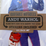 "Andy Warhol ""Quotable Notable"" Die Cut Silhouette Greeting Card"