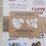 "Bob Ross ""Quotable Notable"" Die Cut Silhouette Greeting Card"