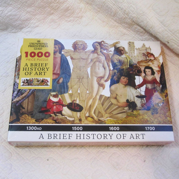 Brief History of Art 1,000 piece Puzzle by Unemployed Philosophers' Guild