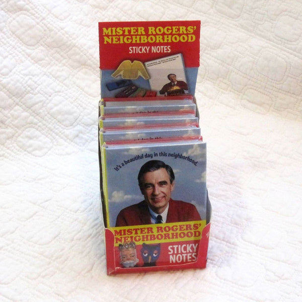 Mister Rogers Sticky Notes Booklet for School or Work Fun, Ages 7 to adult