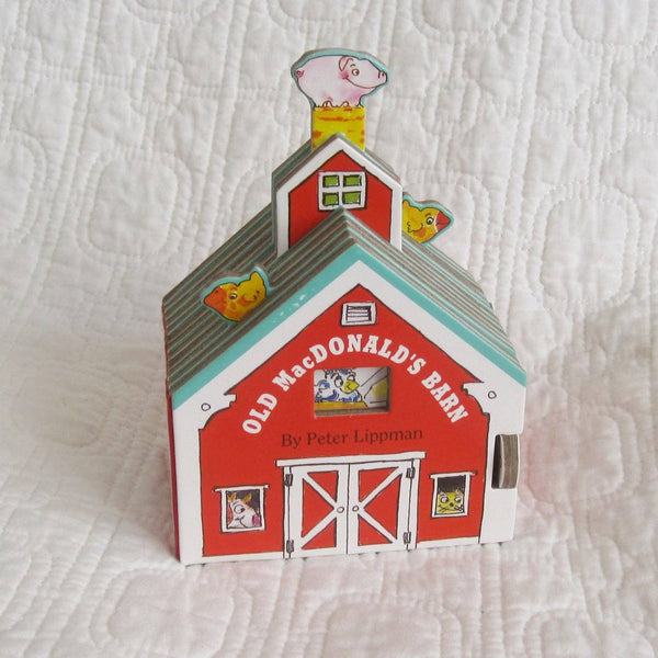 Old McDonald's Barn, Mini House Board Book by Peter Lippman, Ages 1 - 5 years