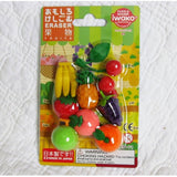 "Fruit Erasers Set, Finely Detailed Japanese ""Puzzles"", Ages 5+"