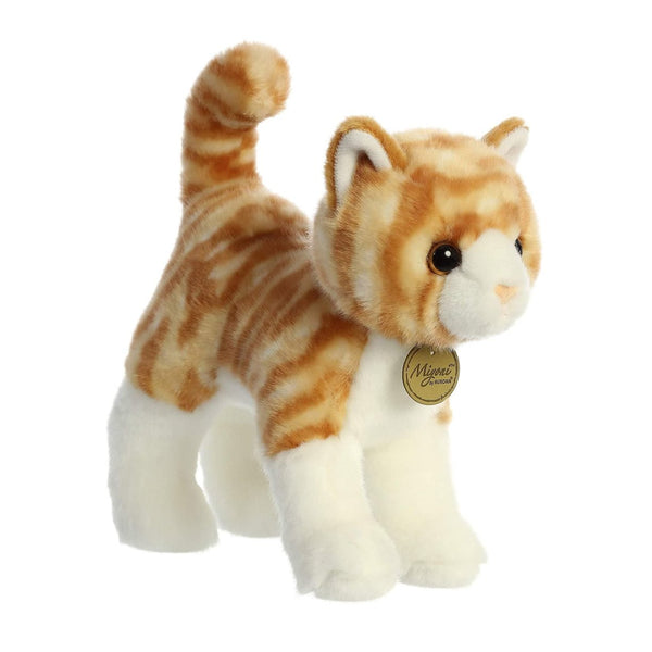 Orange Tabby Plush Cat, Premium Quality by Miyoni, Ages 3+