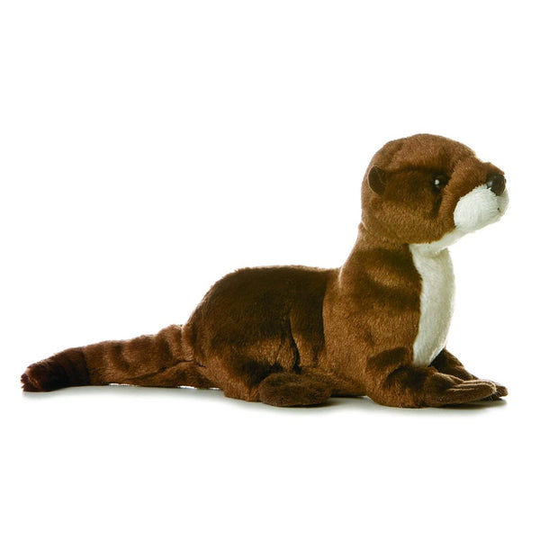 Sliddy the River Otter, Plush Mini Flopsie by Aurora, Ages 3+