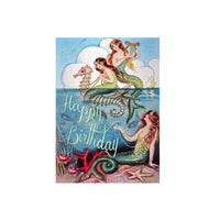 Vintage Mermaids Birthday Card
