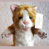 Ginger Cat Puppet, Long Sleeve Style, Ages 3+