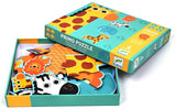 In The Jungle Progressive Jig Saw Puzzles by Djeco, Premium French Brand,  Ages 2 - 4