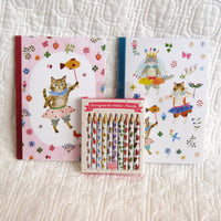 """Aiko"" Little Notebooks and Pencils — Adorable! French Artist Designed, Ages 6+"