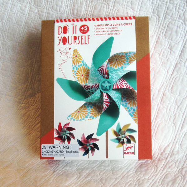 Windmill Kit, DIY Fun, French Design by Djeco, Ages 5+, Play Date Party Fun