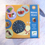 Forest Friends Memo Matching Game by Djeco, French Style, Ages 3+