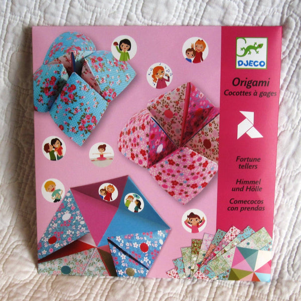 Origami Fortune Teller Kit, French Design by Djeco, Ages 6+, Play Date Party Fun