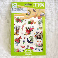 Temporary Tattoos for Kids, Happy Spring Floral Style, by Djeco, Dress Up Fun, Ages 4+