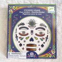 Skull Face Stickers by Djeco Premium French Brand, Dress Up Fun, Ages 4+