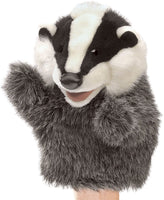 Little Badger Hand Puppet by Folkmanis, Child Size, Ages 3+