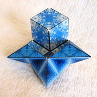 Shashibo Shape Shifting Magnetic Puzzle Box, Blue Planet Ocean and Wave Patterns, Ages 8 - adult
