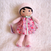 "Soft Doll ""Fleur"" by French Toymaker Kaloo, Ages 9 mo.+"
