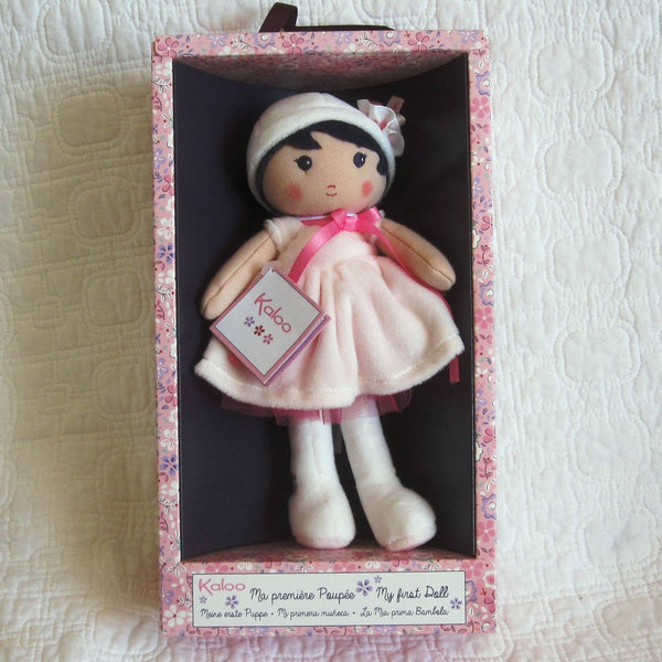 "Soft Doll ""Perle"" by French toymaker Kaloo, Ages 9 mo.+"