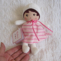 "Small Soft Doll ""Rose"" by French Toymaker Kaloo,  Ages 9 mo.+"