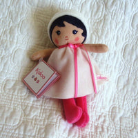 "Small Soft Doll ""Perle"" by French Toymaker Kaloo, Ages 9 mo.+"
