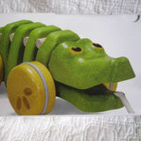 Dancing Alligator Pull Toy by Plan Toys, Ages 12 mo.+, Sustainably Made Plan Wood