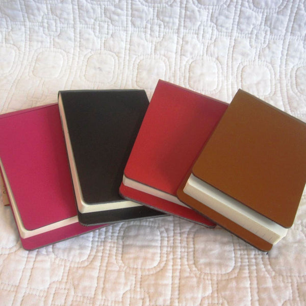 Recycled Leather Memo Pad Holders, Italian Modern Style by San Lorenzo