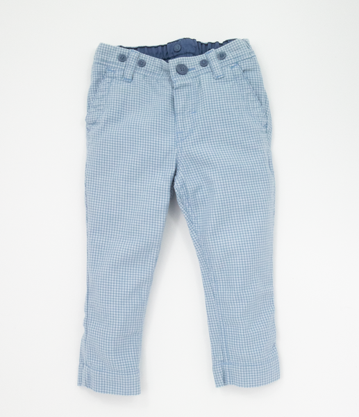 Blue dogtooth trousers