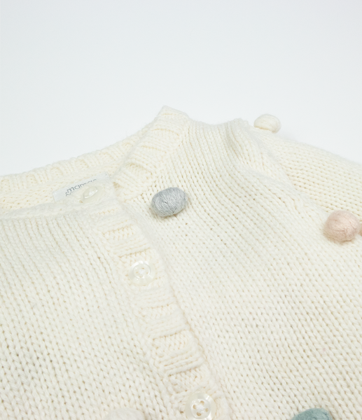 Pastel bobble knit cardigan
