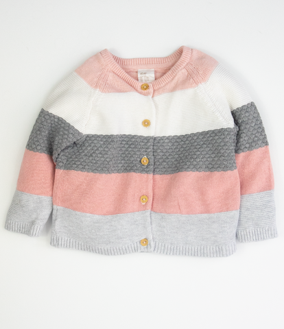 Wide stripe cardigan
