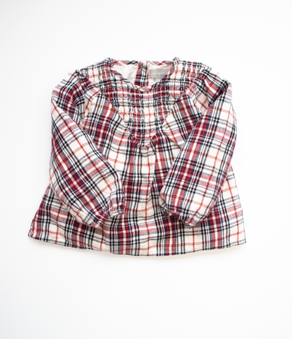 18-24 M Gingham smock top
