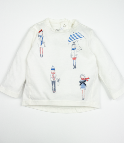 Long sleeve illustrated top