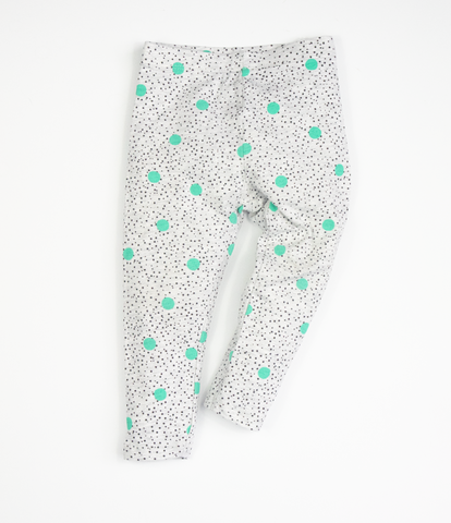 Green spot leggings