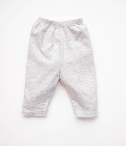 0-3 M Grey sparkle trousers