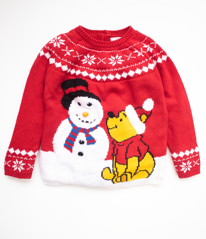 18-24 M Pooh Bear Christmas Jumper