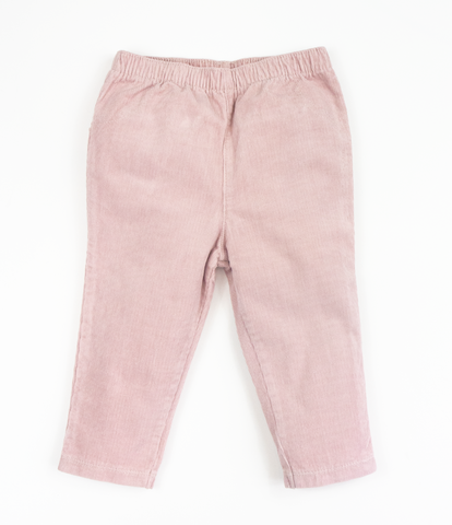 Dusty pale pink corduroy trousers