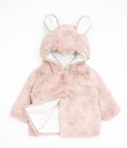Dusty Pink Rabbit Coat