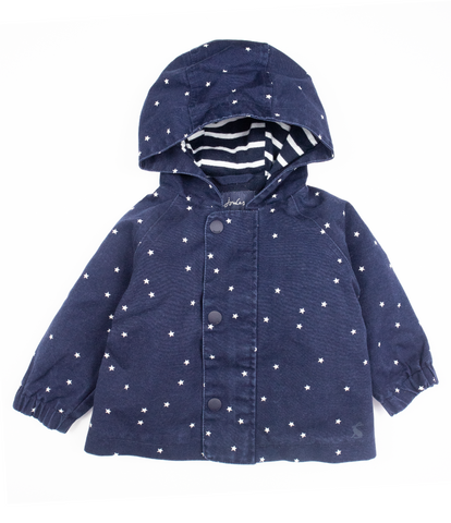 Star print raincoat