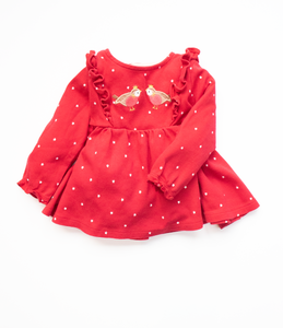 6-9 M Red robin dress