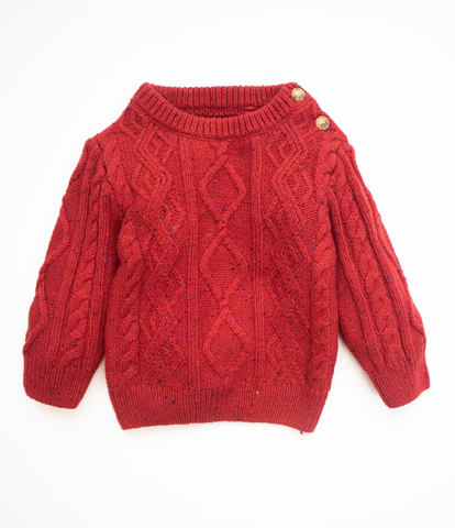 3-6 M Cable knit jumper